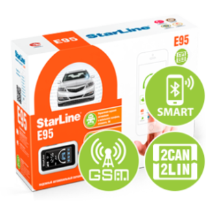 Установка автосигнализация StarLine E95 BT 2CAN+2LIN GSM
