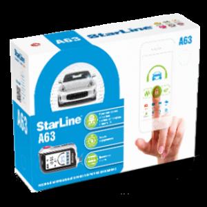 Установка автосигнализация StarLine A63